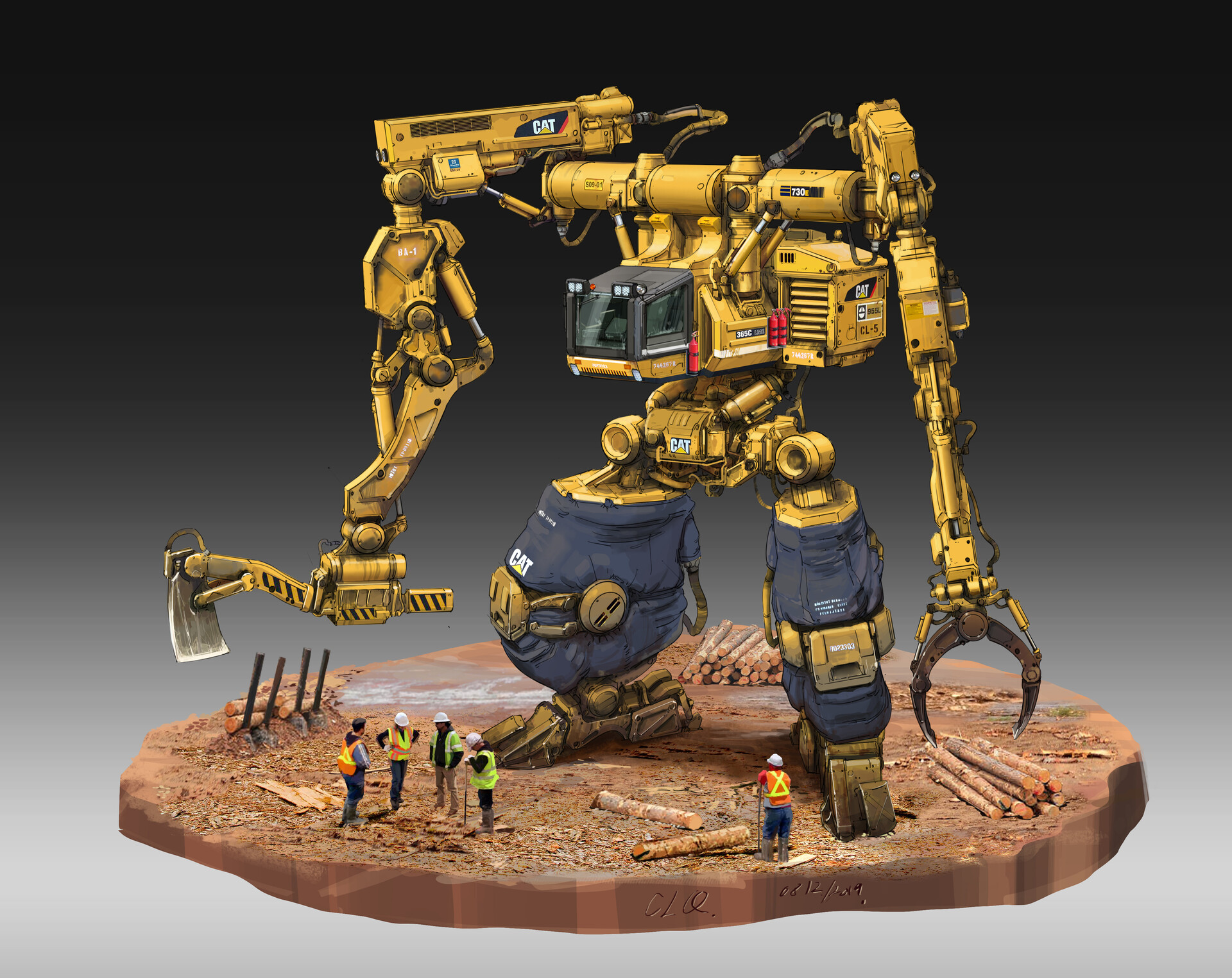 Heavy Equipment lumber mech suit